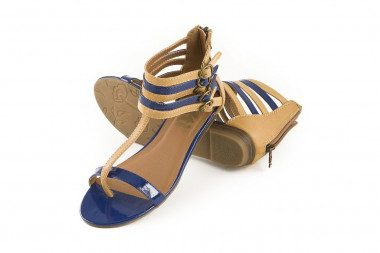 Gladiator style low wedge...
