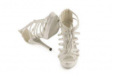 High heel and platform cage...