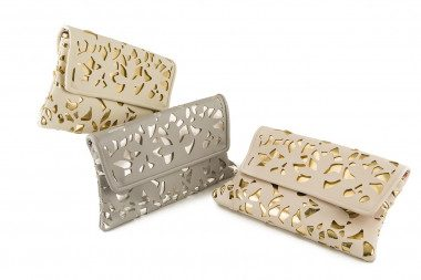 Perforated envelope clutch...