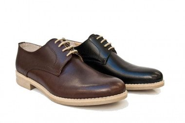 Smooth leather shoe Yellowside