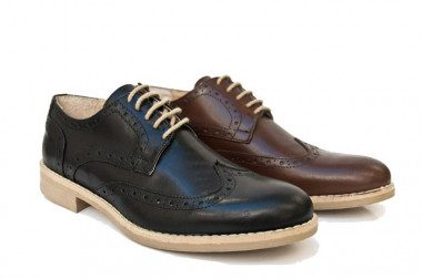 Scarpa pelle stile Oxford Yellowside