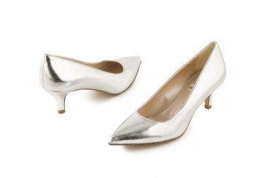 Metallic mid heel pump 4 Passi