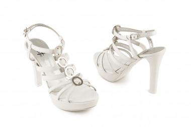 High-heeled sandal with...