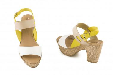 Block heel multicolor...