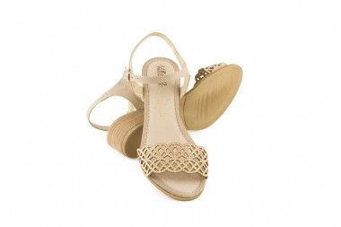 Cut-outs sandal with studs...