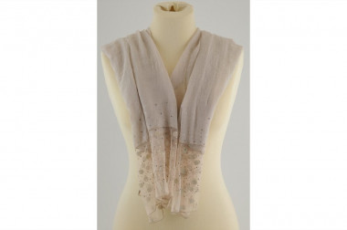 Scarf stole tulle details 4...