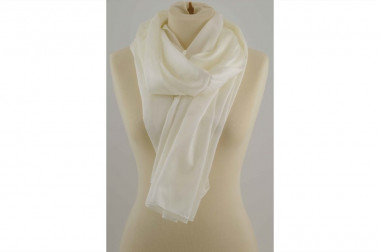 Elegant ivory scarf stole 4...