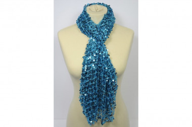 Sequin turquoise scarf...