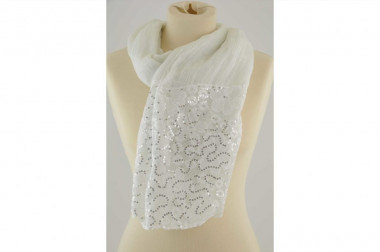 Scarf stole with lace and...