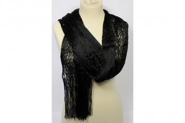 Net scarf stole with...