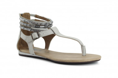 Back zipped post-toe sandal...