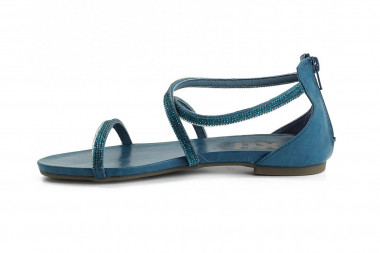 Back zipped post-toe sandal...