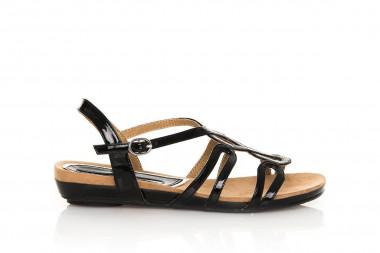 Patent low-wedge sandal...