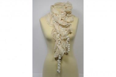 Ruffles and pom poms scarf...