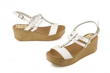 Mid wedge heel leather...