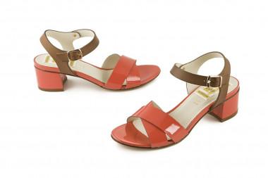 Block heel coloured sandal...