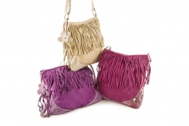 Fringed suede cross-body...