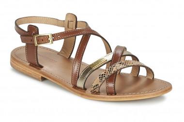 Flat leather sandal Les...