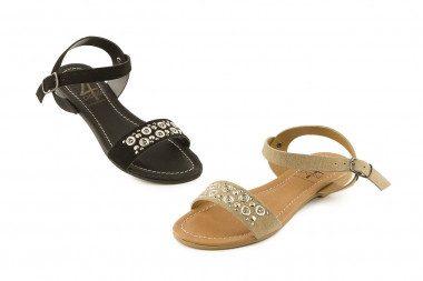 Flat suede sandal 4 Passi