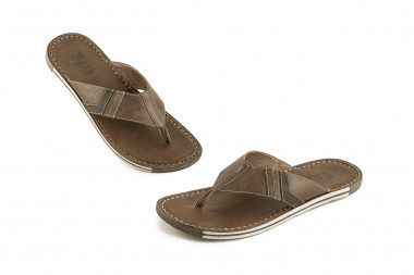 Soft leather thong sandal...