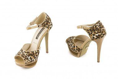 Leopard print sandal...