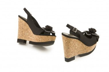Cork high wedge sandal...