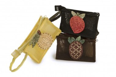 Small net cosmetic bag...