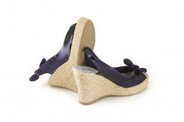 Sandalo espadrillas con zeppa alta in corda Barù