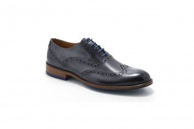 Genuine leather lace-up...