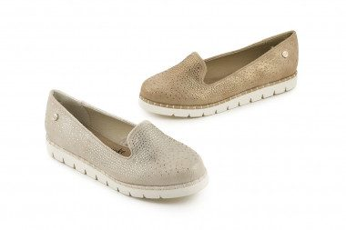 Slip-on moccasin with...