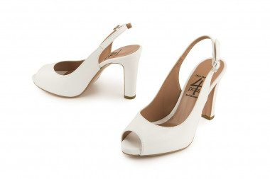 Leather sandal with high...
