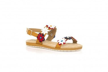 Low-wedge sandal with...