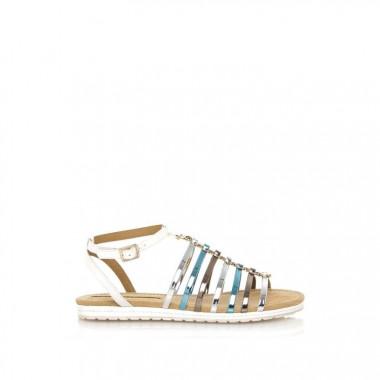 Metallic straps sandal...