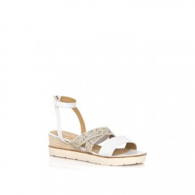 Mid wedge sandal with tiny...