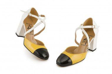 Block heel open pump 4 Passi