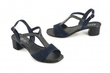 Suede sandal with...