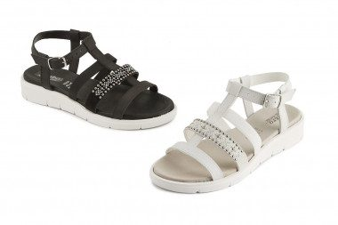 Low wedge strappy sandal...