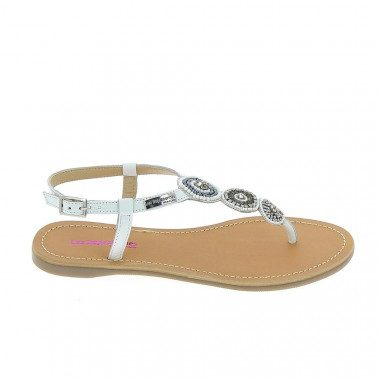 Beaded thong sandal Les...