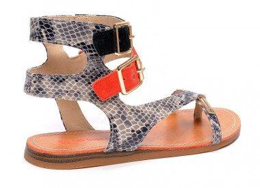 Two buckles thong sandal...