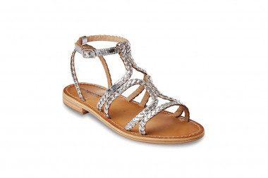 Metallic woven sandal Les...