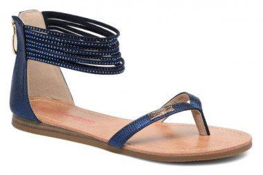 Back zipper sandal Les...
