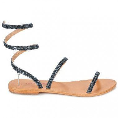 Beaded gladiator sandal Les...