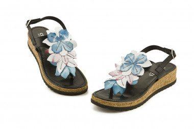 Sandalo infradito con fiori...