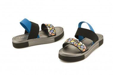Sandalo basso multicolore...