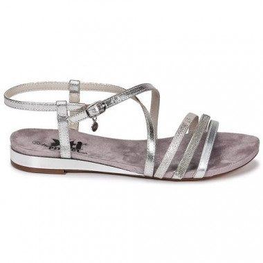 Metallic low wedge heel...