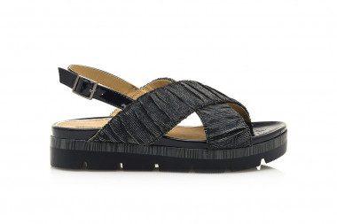 Criss-cross fabric sandal...