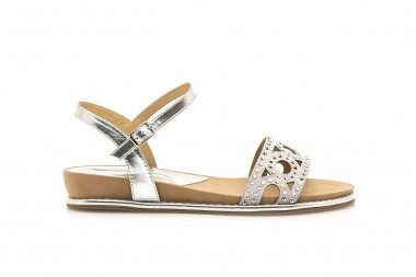 Cutout sandal with studs...