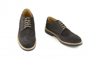 Genuine suede lace-up shoe...