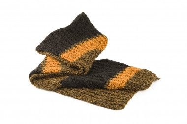 Striped knit scarf 4 Passi