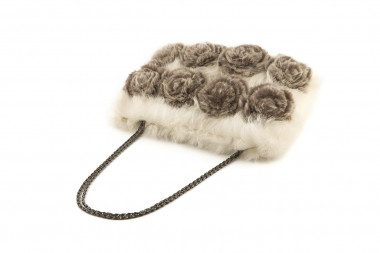 Medium rabbit fur handbag...